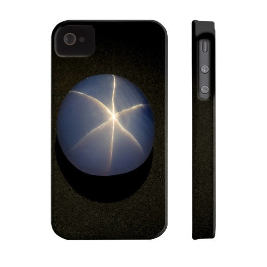 Star Sapphire Portrait Phone Case Slim iPhone 4/4s, Phone Case - PeakGems.com, PeakGems.com - 7