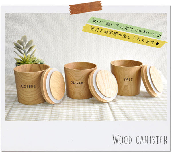 Wooden canister Coffee Sugar Salt kitchen salt salt salt salt organic salt ceramic container