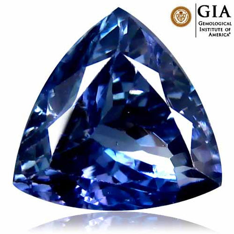 GIA Certified 4.06 ct Natural Tanzanite , Natural Gemstone - PeakGems.com, PeakGems.com - 1