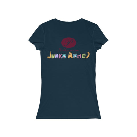 Junko Model Women's Jersey Short Sleeve V-Neck Tee