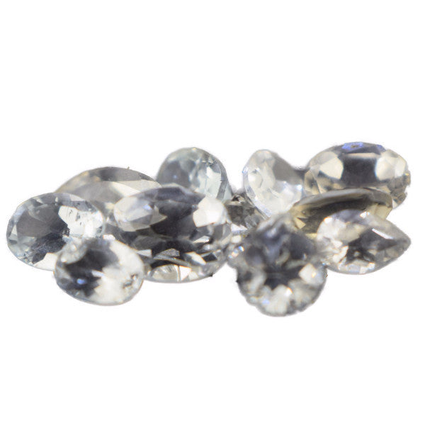 10 cts Natural Ceylon White Topaz Lot , Natural Gemstone - PeakGems.com, PeakGems.com