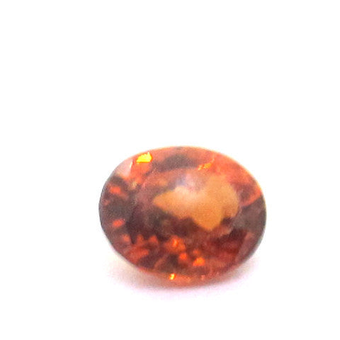 0.68 ct Natural Brownish Orange Garnet , Natural Gemstone - PeakGems.com, PeakGems.com - 1