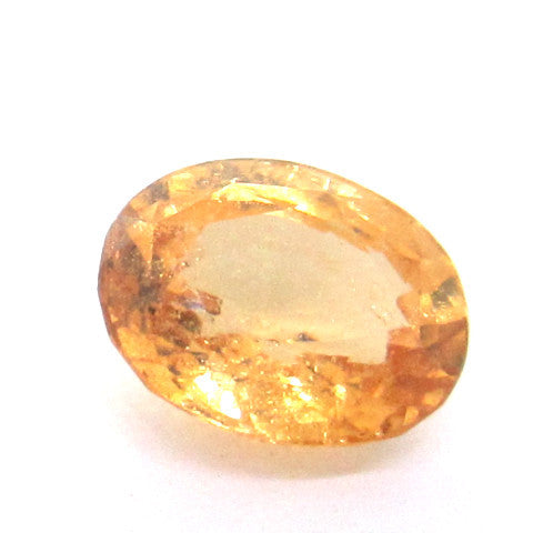 4.25 ct Natural Yellowish Orange Garnet , Natural Gemstone - PeakGems.com, PeakGems.com - 1