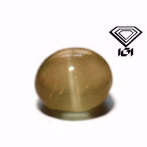 IGI Certified 1.41 cts Natural Chrysoberyl Cat's Eye , Natural Gemstone - PeakGems.com, PeakGems.com - 1