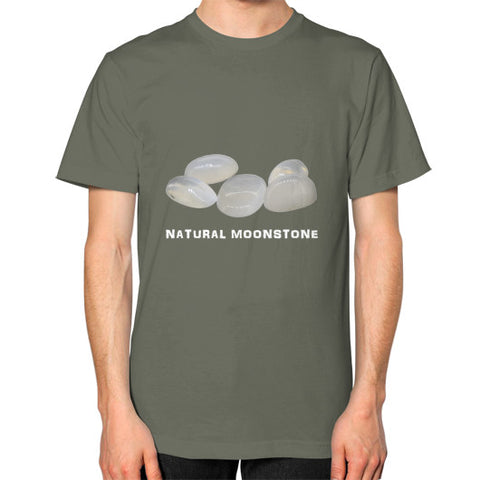 Natural Moonstone Portrait Unisex T-Shirt S / Lieutenant, T-Shirt - PeakGems.com, PeakGems.com - 1