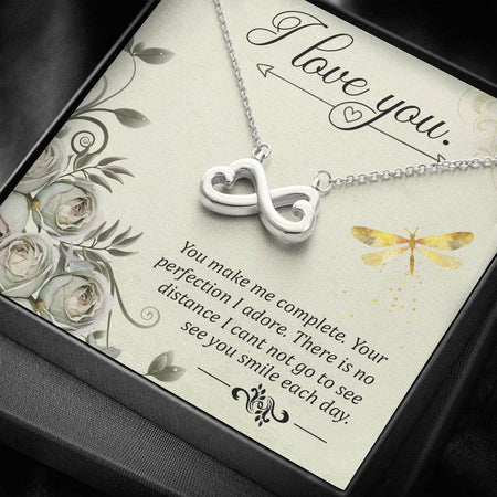 Heart-shaped infinity symbol Necklace (Love message)