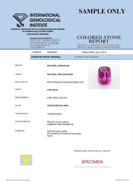 Get IGI Certificate for Natural Gemstones ,  - PeakGems.com, PeakGems.com - 1