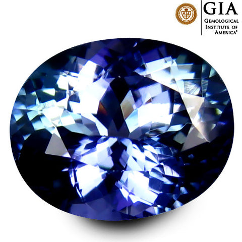 GIA Certified 4.35 cts Natural Tanzanite , Natural Gemstone - PeakGems.com, PeakGems.com - 1