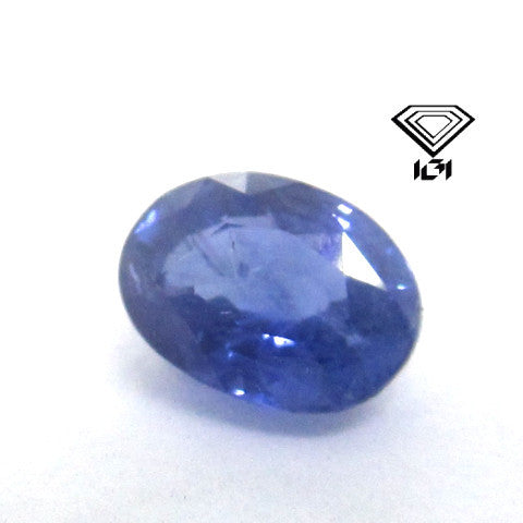 IGI Certified 1.10 ct Natural Ceylon Blue Sapphire , Natural Gemstone - PeakGems.com, PeakGems.com - 1