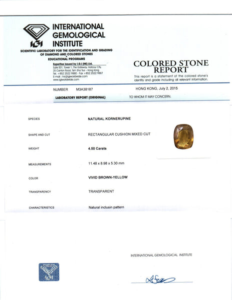 IGI Certified 4.50 cts Natural Ceylon Kornerupine , Natural Gemstone - PeakGems.com, PeakGems.com - 3