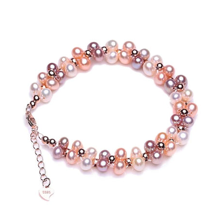 Double layer Natural Freshwater 6-7mm Pearl Bracelet