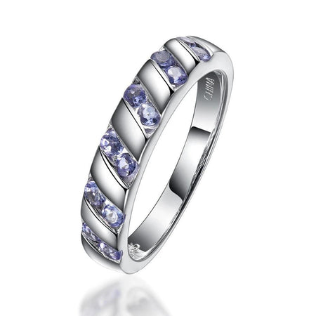 Natural Tanzanite Gemstone Ring Solid 925 Sterling Silver