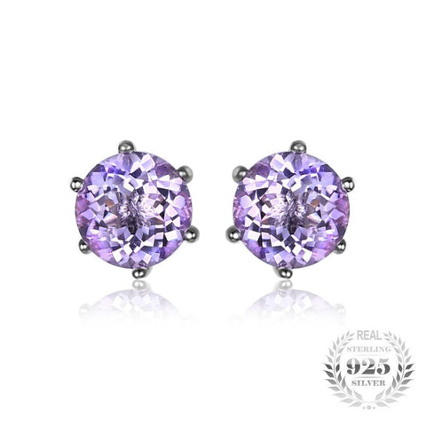 Natural Gemstone Earrings Stud 925 Sterling Silver