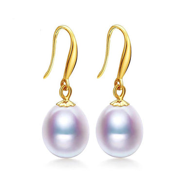18K Yellow Gold Natural Pearl Earrings