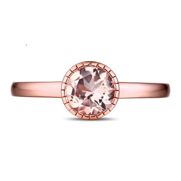 14K Rose Gold 0.72ct Natural Morganite Ring