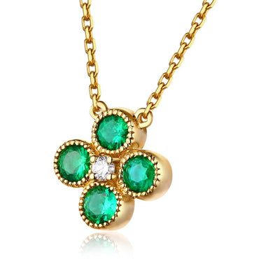 18kt Yellow Gold Natural 0.63ct Emerald Pendant