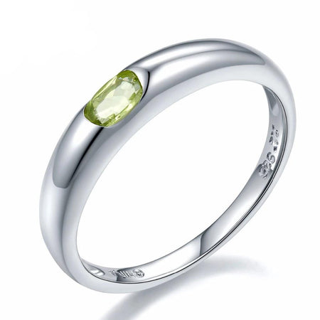 Natural Peridot Ring Genuine 925 Sterling Silver