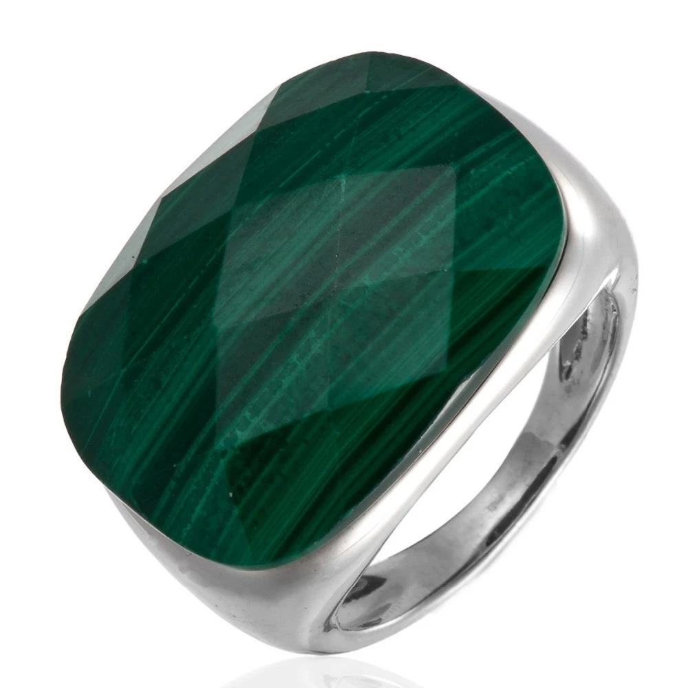 Natural Malachite Solid 925 Sterling Silver Ring