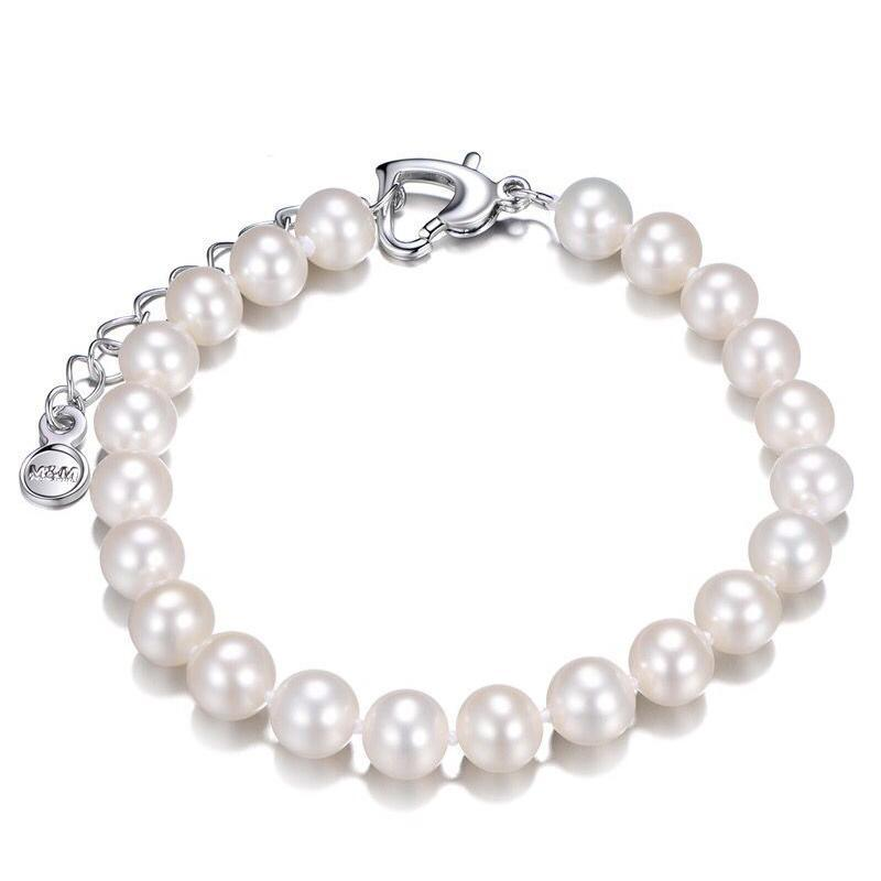 8-9 mm Natural Freshwater Pearl Bracelet