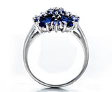 Natural Iolite, Tanzanite Gemstone Solid 925 Sterling Silver Ring