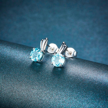 Natural Sky Blue Topaz Solid 925 Sterling Silver Jewelry Set
