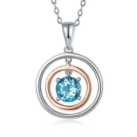 Natural Sky Blue Topaz Solid 925 Sterling Silver