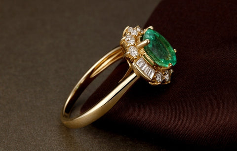 Solid 14k Gold Natural 1.68ct Emerald Ring