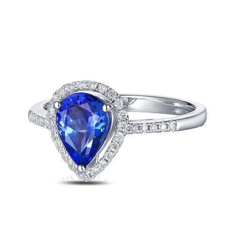 14k White Gold Natural 2.22ct Tanzanite Ring