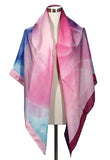 Large square silk scarf, 138cm