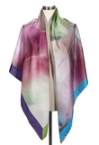 Large square silk/cotton scarf, 138cm