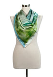 Medium square silk or silk/cotton blend scarf, 90cm