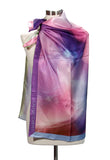 Medium square silk scarf, 90cm
