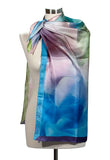Medium square silk or silk/cotton scarf, 90cm