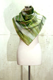 She Leaves: Regular square cotton/silk scarf, 100cm