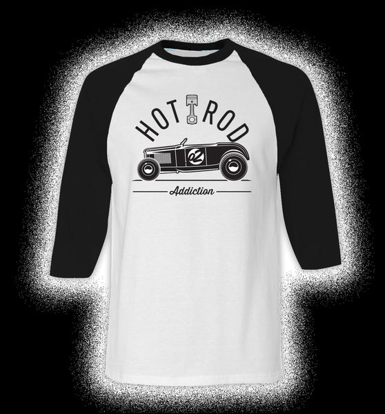 'Hot Rod Addiction 2' - Raglan Tee