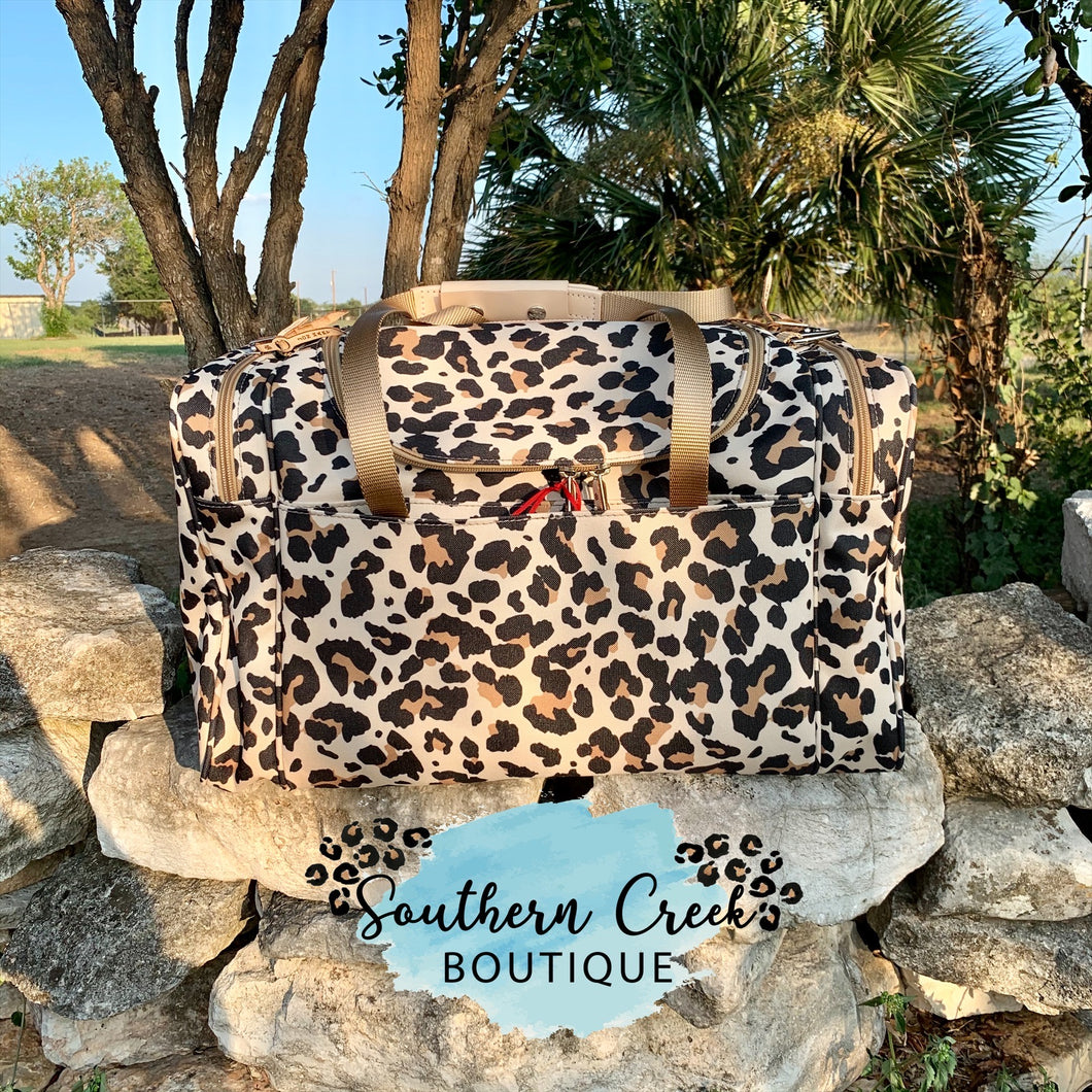 Jon Hart Leopard Medium Square Duffel