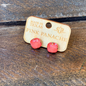 Cushion Cut Candy Coral Earring
