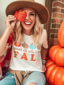 """Most of all, I Love Fall"" Graphic Tee"
