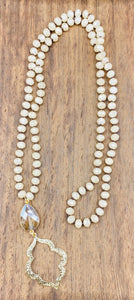 ShannaAgains Jewels Marquee Stone Beaded Necklace