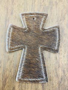 Cross Leather Car Charms