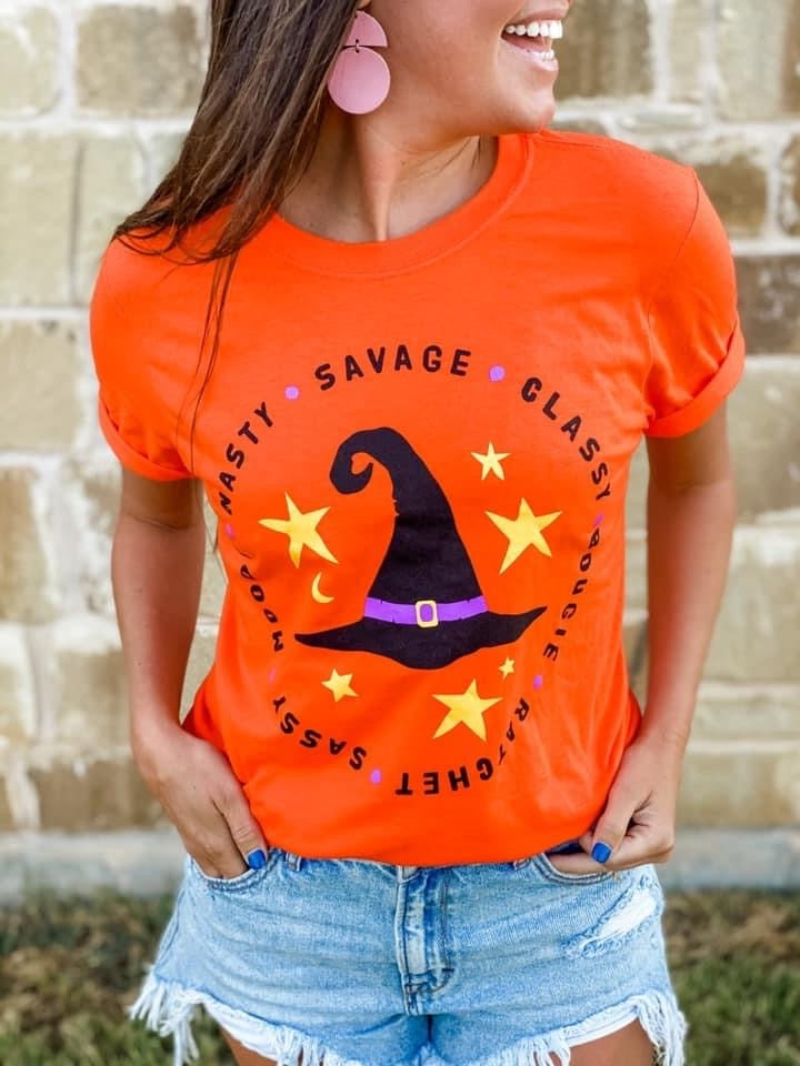 """Savage Witch"" Graphic Tee"