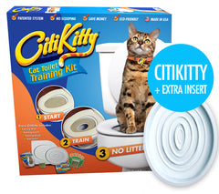 CitiKitty Cat Toilet Training Kit with Extra Training Insert - CitiKitty Inc.   - 1