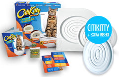 CitiKitty Cat Toilet Training Kit with Extra Training Insert - CitiKitty Inc.   - 2