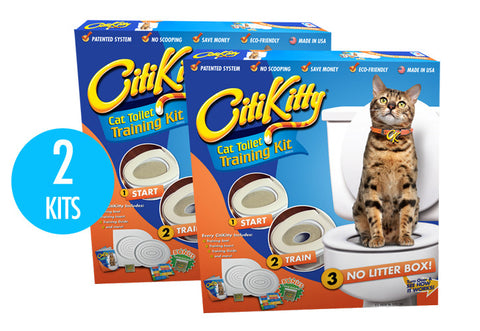 2 Pack - CitiKitty Cat Toilet Training Kit