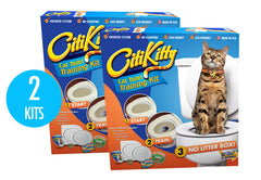 2 Pack - CitiKitty Cat Toilet Training Kit - CitiKitty Inc.   - 1