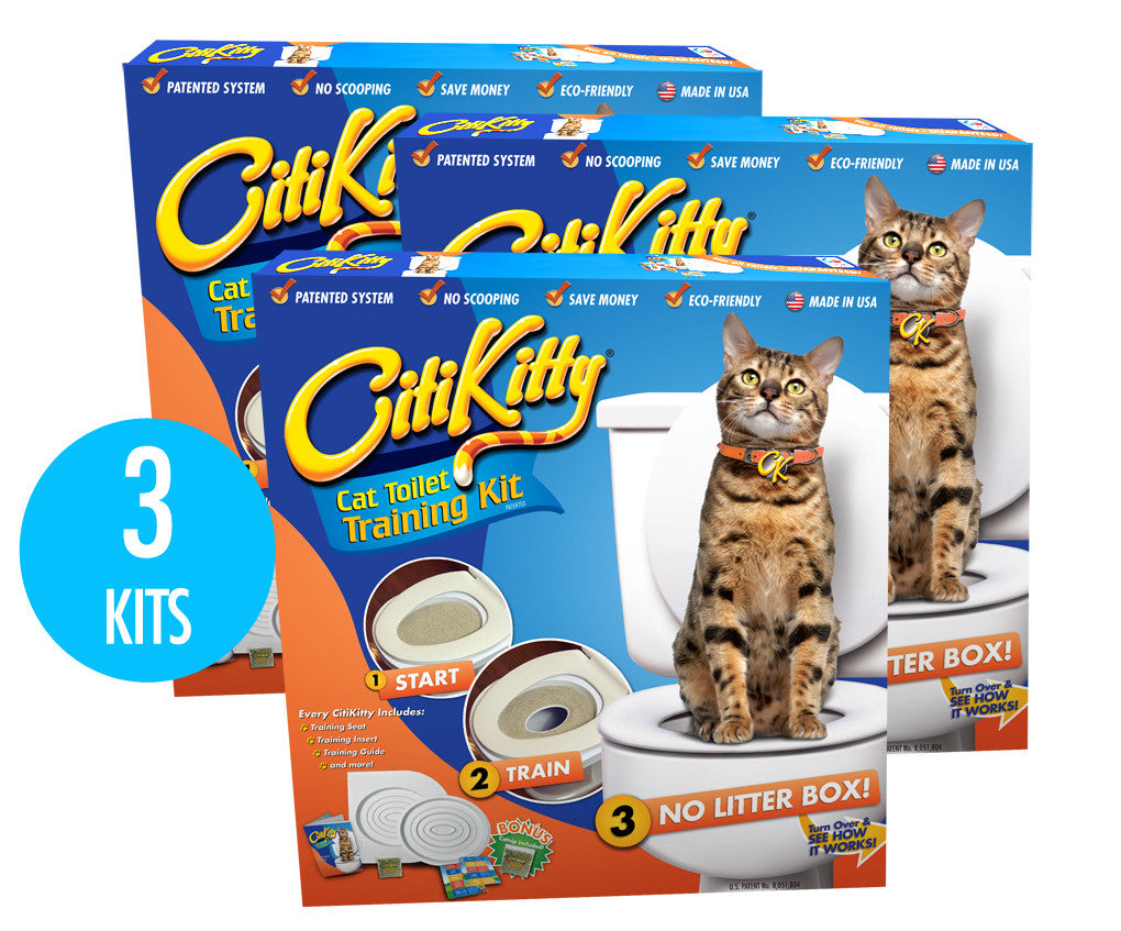 3 Pack - CitiKitty Cat Toilet Training Kit - CitiKitty Inc.   - 1