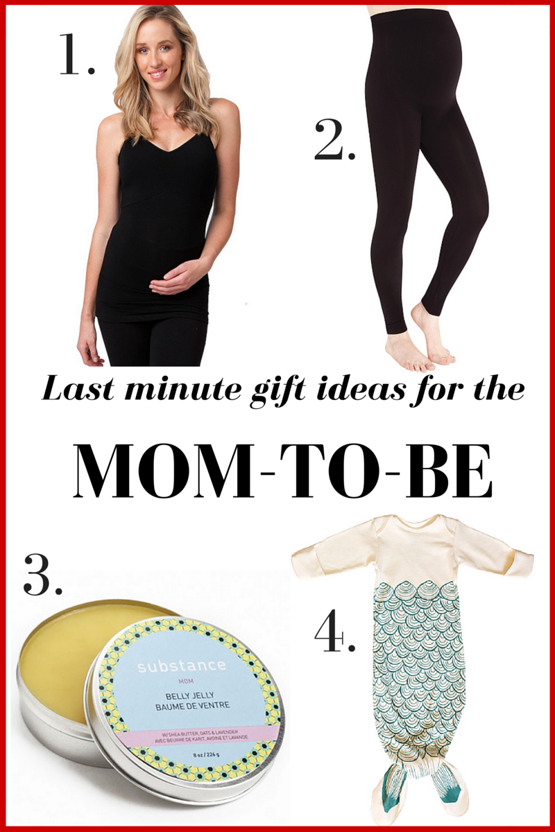 Last minute Christmas gift ideas for the mom-to-be