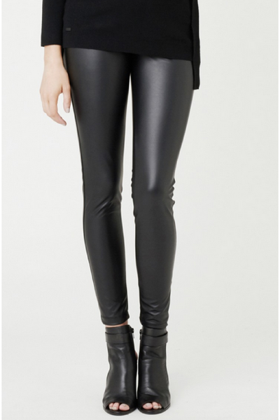 faux leather matenity leggings