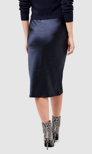 Lexie satin skirt - navy