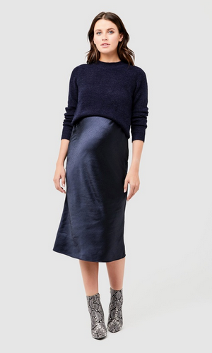 Ripe maternity Lexie satin skirt